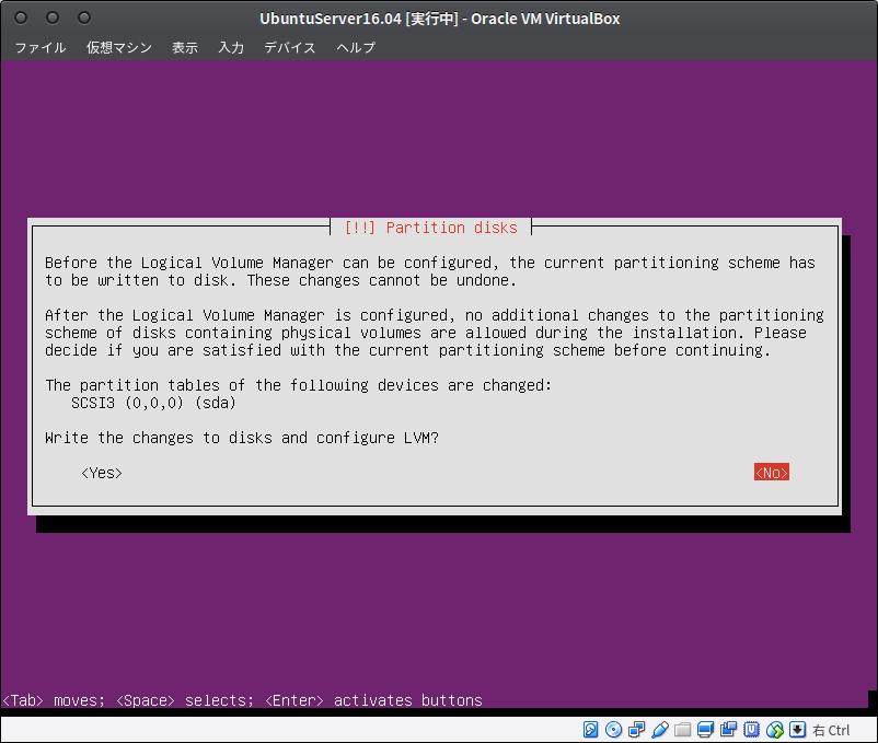 Fig30.UbuntuServer(ディスクパーティションの設定3)