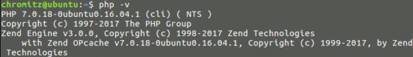 Fig4.PHPのバージョン確認