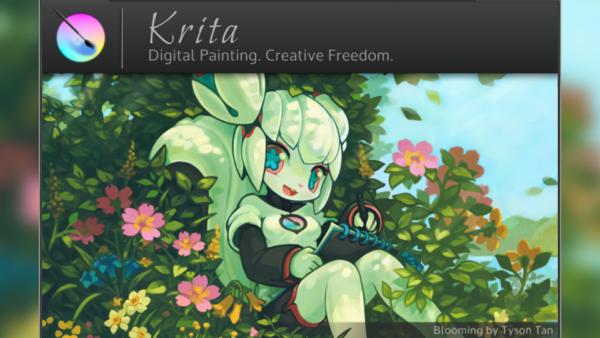 サムネイル:Krita 2.9のスプラッシュウィンドウ
