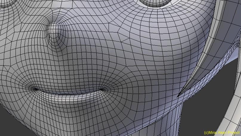 Fig4.「ミライアカリ」モデルのポリゴン