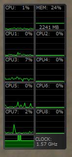 挿絵:CPU & MEM meter IIの様子