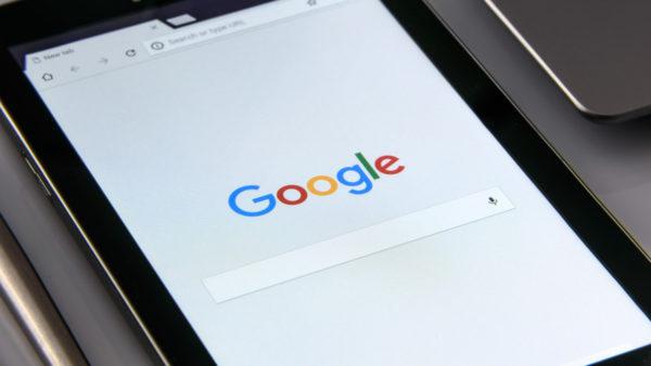 アイキャッチ:タブレットでGoogleを表示