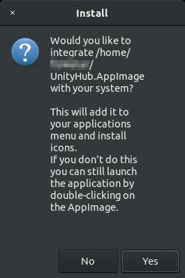 Unity Hubインストール時のアラート