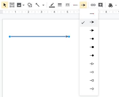 """""""Google スライド""""の直線ツール"""