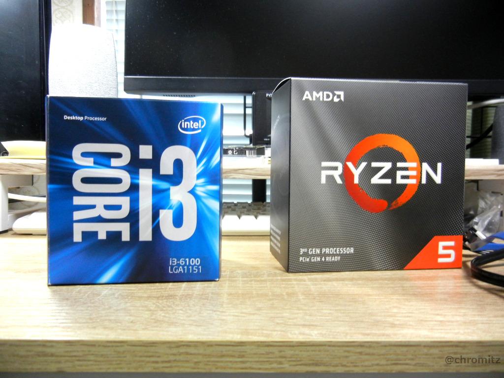 Intel CPUとRyzen CPU